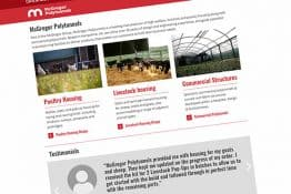 New website design for McGregor Polytunnels - commercial polytunnel and livestock building manufacturer