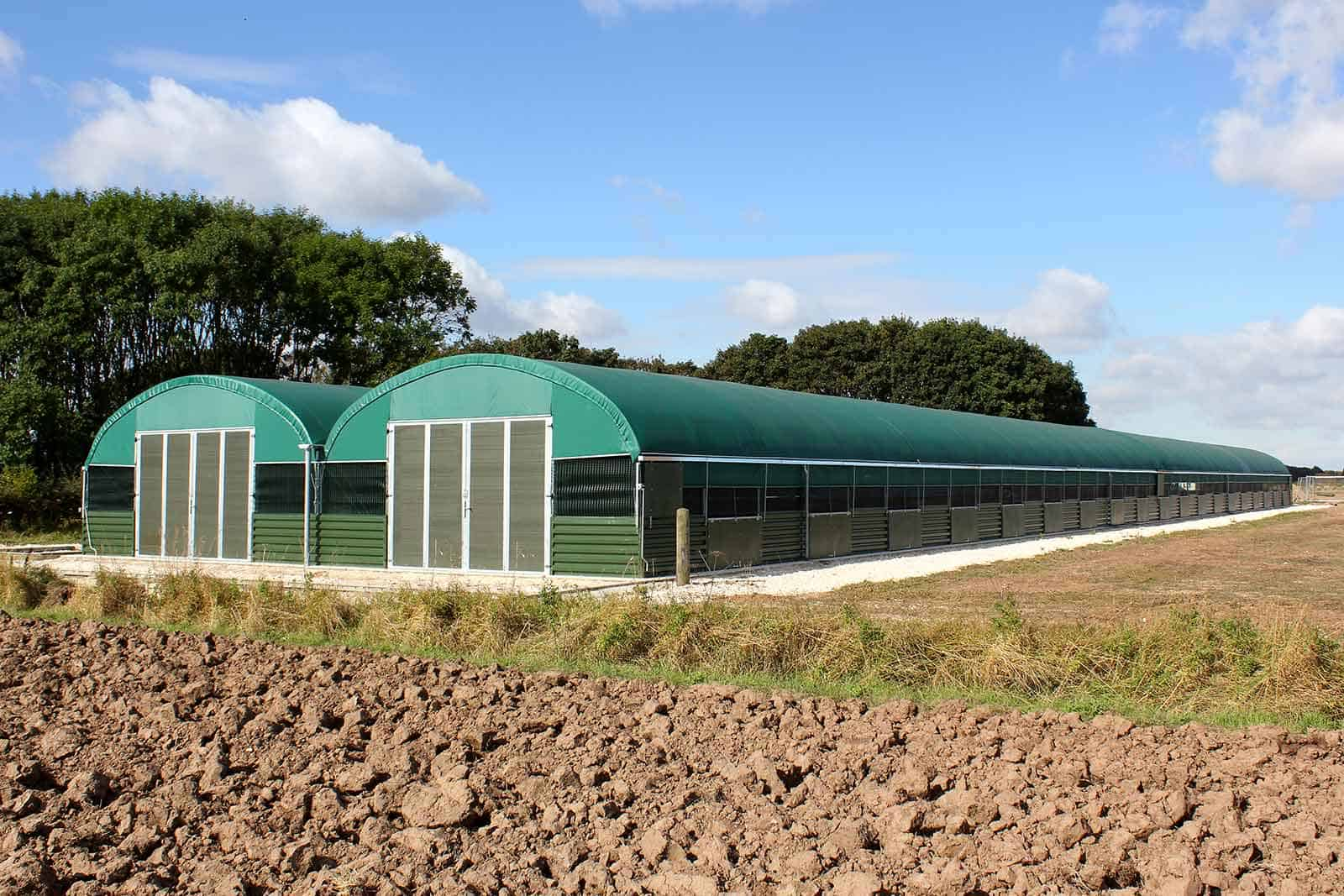 Modular PVC covered polytunnel buildings by McGregor Polytunnels - bespoke design and build