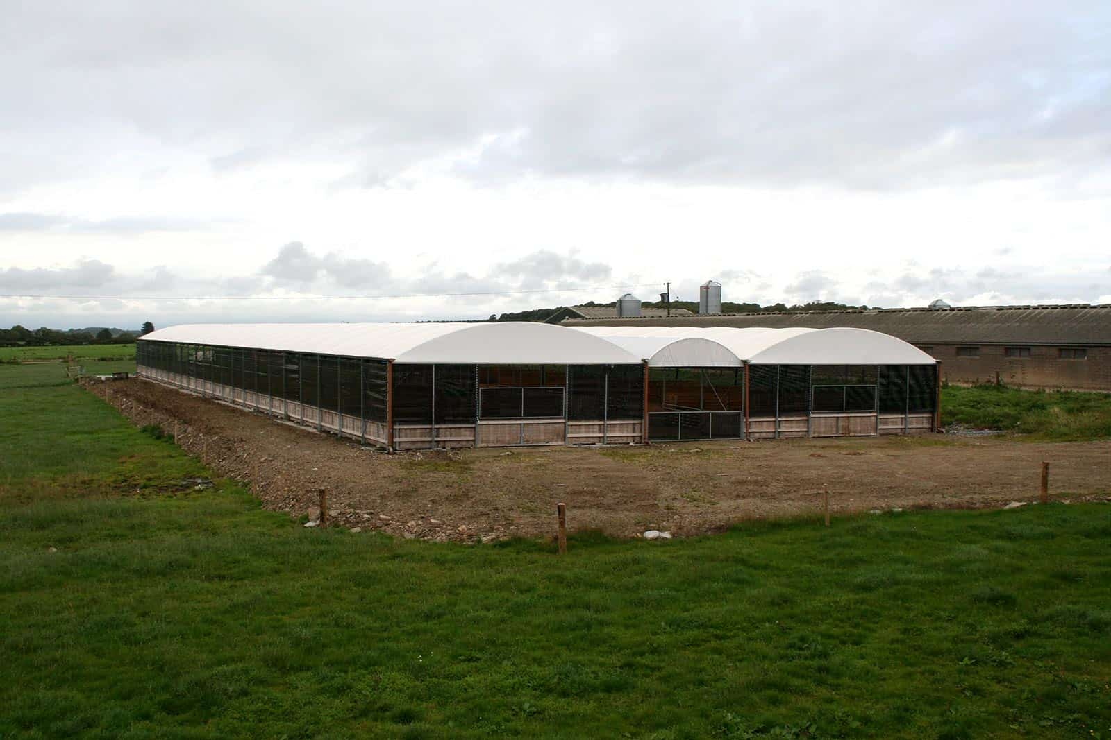 Commercial polytunnel structure by McGregor Polytunnels